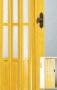 Складная дверь Гармошка Amati A10 - Двери PVC раздвижные. А-10(Т2) стекло. Размер (860*2030*18мм).  Цвета: белый ясень, сосна, бук, дуб, орех.