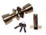 Защелка межкомнатная 3091 sb et - Замок Arsenal 3091 SB ET с ключом, золото матовое.